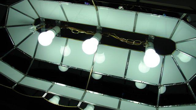 ステンドグラス製 BARライト Chevrolet ビック ブラック